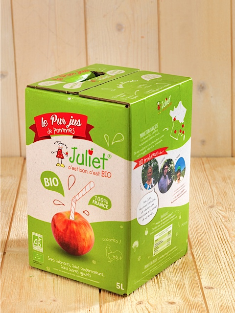 BAg in box jus de pommes bio juliet Packaging