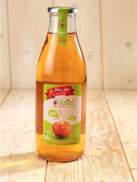 jus de pommes bio juliet Packaging