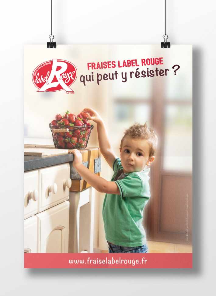 affiche fraise label rouge